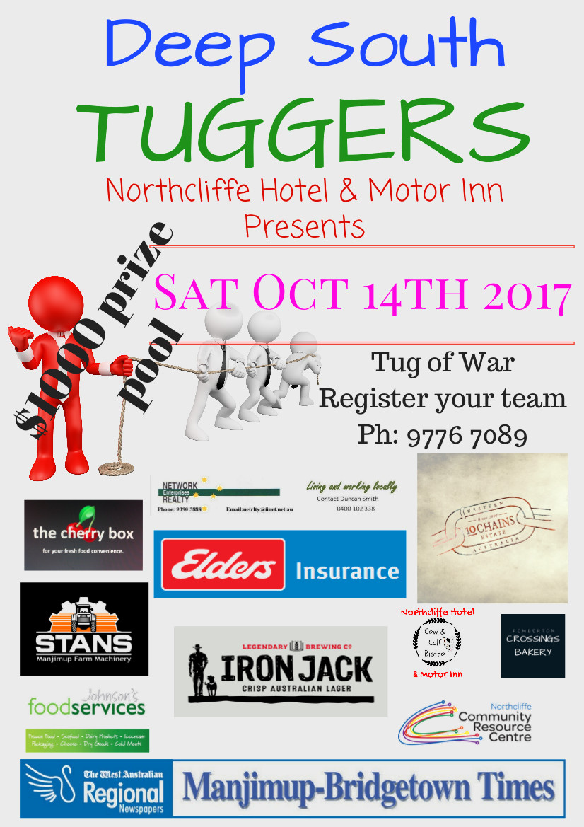 Deep South Tuggers Event Northcliffe Hotel